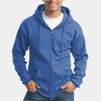 Tall Essential Fleece Full Zip Hooded Sweatshirt Thumbnail
