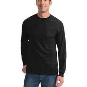 Tall Long Sleeve Essential T Shirt with Pocket Thumbnail